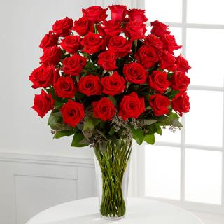 The Long Stem Red Rose Bouquet - 36 Stems